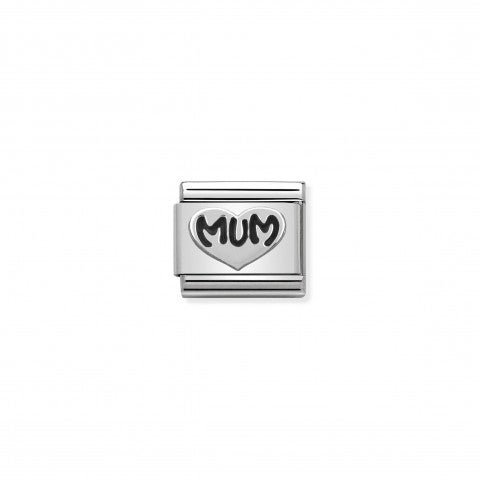 Composable_Classic_Link_Silver_Mum_Heart_Link_with_Mum_writing_in_sterling_silver