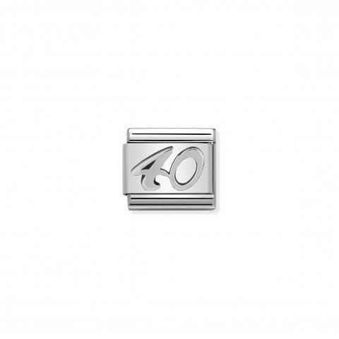 Link_Composable_Classic__Numero_40_in_Argento_Link_in_Acciaio_con_numero_40_in_Argento_925