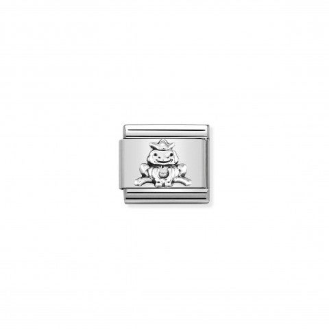 Composable_Classic_Link_Frog_with_Crown_Link_in_silver_with_animal
