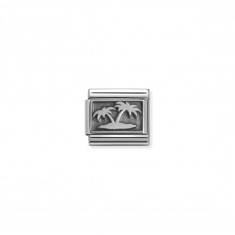 Composable_Classic_Link_Island_with_Palm_Trees_Sterling_silver_Link_with_Desert_Island_symbol