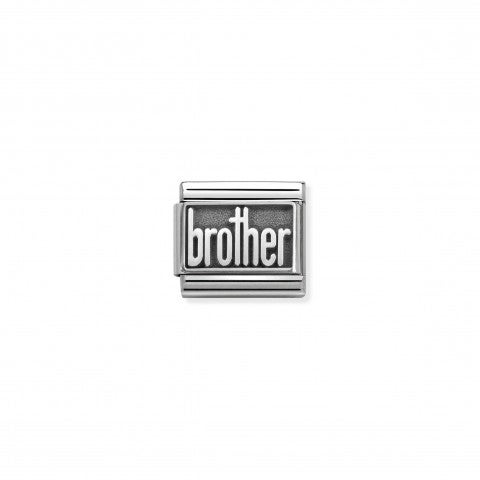 Link_Composable_Classic_Brother_Link_con_tema_famiglia_in_Argento_925