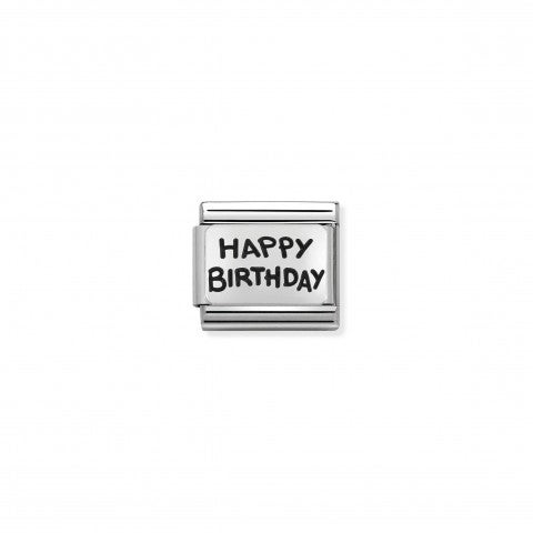 Link_Composable_in_argento_Happy_Birthday_Link_per_bracciale_Composable_in_argento_scritta_Buon_Compleanno