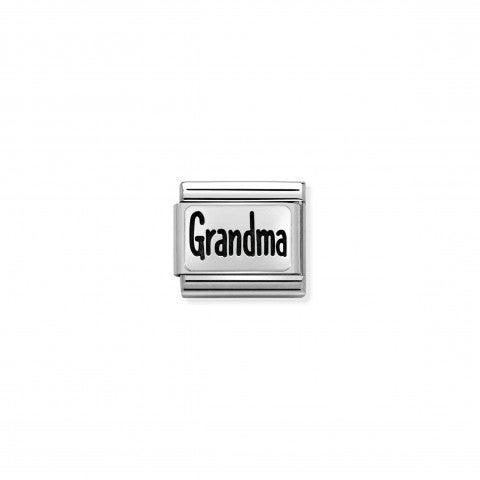 Link_Composable_Classic_Grandma_in_Acciaio_Link_in_Acciaio_con_scritta_in_Argento_925