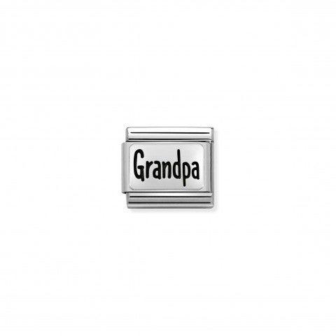 Link_Composable_Classic_Grandpa_in_Acciaio_Link_con_scritta_in_Argento_925