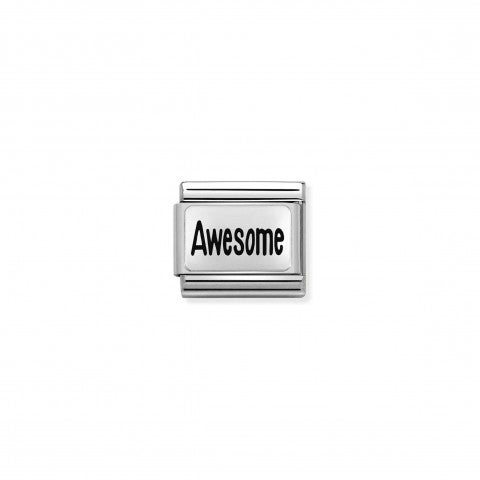 Composable_Classic_Link_AWESOME_Stainless_steel_Link,_silver_with_text