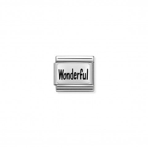 Composable_Classic_Link_WONDERFUL_Stainless_steel_Link,_sterling_silver_plate_with_text