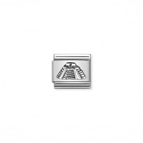 Composable_Classic_Link_Mayan_Pyramid_silver_Link_in_stainless_steel_and_sterling_silver_Mexico_symbol