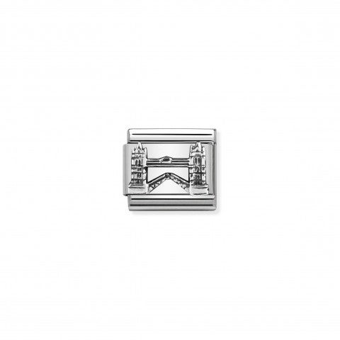Composable_Classic_Link_Tower_Bridge_silver_Link_in_stainless_steel_and_sterling_silver_England_symbol