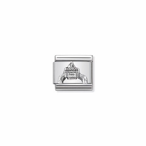Composable_Classic_Link_St._Peter's_Square_Link_with_sterling_silver_symbol_from_Italy