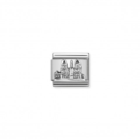 Composable_Classic_Link_Piazza_di_Spagna_silver_Link_in_stainless_steel_and_sterling_silver_Italy_symbol