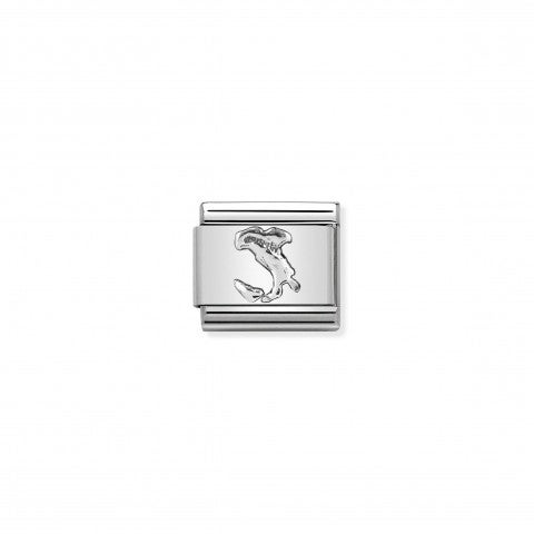 Composable_Classic_Link_Italy_silver_Link_in_steel_and_sterling_silver,_Italy_in_relief
