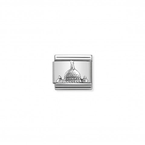 Composable_Classic_Link_St._Peter's_Dome_silver_Sterling_silver_Link_with_Italian_Monument_in_relief