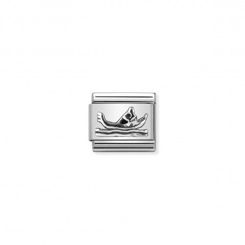 Composable_Classic_Link_Gondola_silver_Link_in_sterling_silver_with_typical_symbol_of_Venice