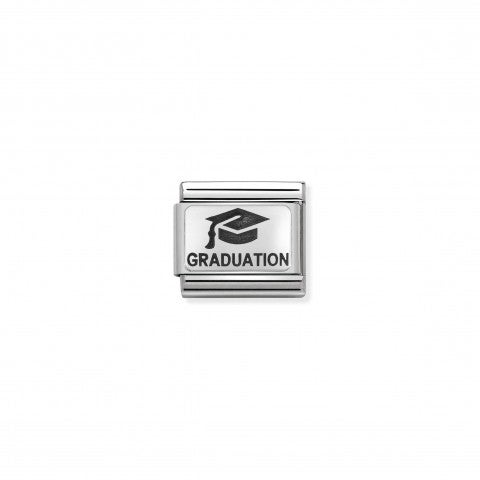 Composable_Classic_Graduation_Link_in_Silver_Link_for_Graduation_in_black_enamel