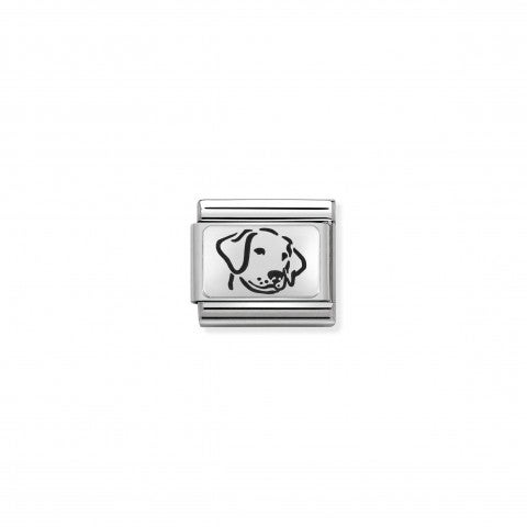 Composable_Classic_Dog_Link_in_Silver_Dog_Link_in_black_enamel