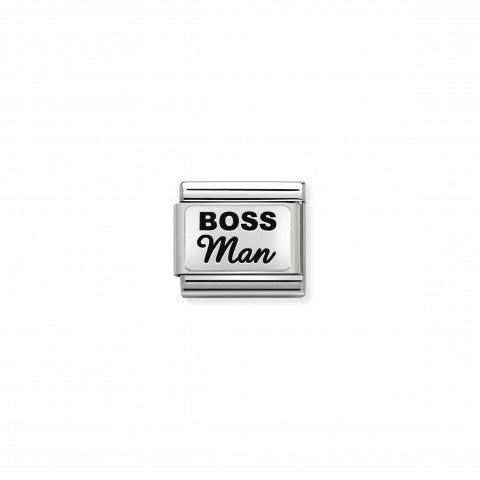 Composable_Classic_Boss_Link_Link_in_silver_with_writing._#oneformeoneforyou
