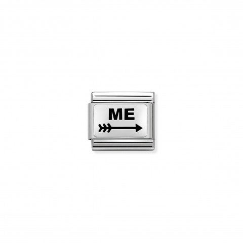 Composable_Classic_Me_and_Arrow_Link_Link_in_silver_with_enamel._#oneformeoneforyou