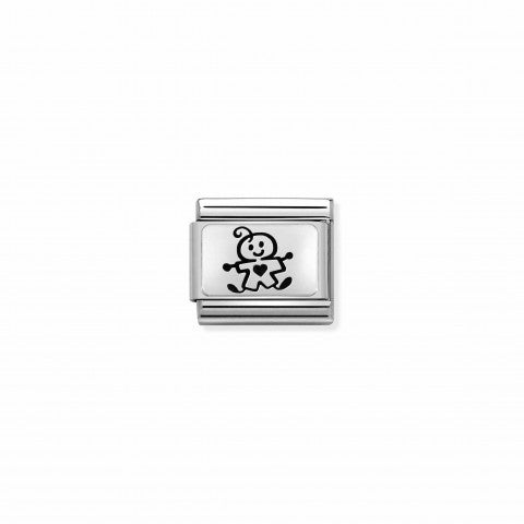 Composable_Classic_Link_Sterling_Silver_Baby_Boy_Link_in_Silver_with_Family_theme
