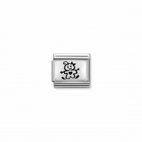 Composable_Classic_Link_Sterling_Silver_Baby_Girl_Link_Family_theme_in_Steriing_silver