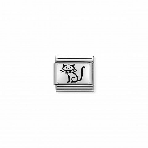 Composable_Classic_Link_Oxidised_Silver_Kitten_Link_with_pet_symbol_in_Sterling_silver