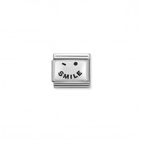 Link_Composable_Classic_texto_Smile_Link_en_Plata_925_y_símbolo