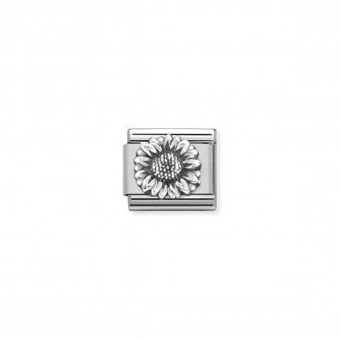 Composable_Classic_Link,_Silver_Sunflower_Vintage-effect_Link