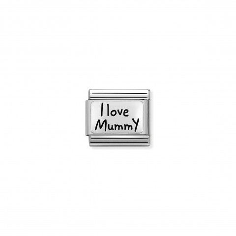 Composable_Classic_Link_I_LOVE_MUMMY,_silver_Limited_Edition_Link_in_sterling_silver_and_enamel