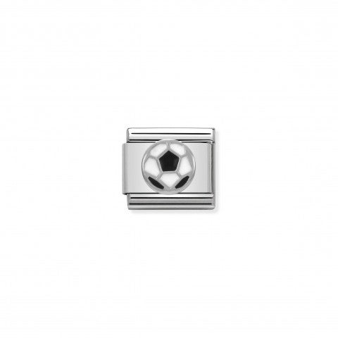 Composable_Classic_Link_Soccer_Ball_In_Silver_and_Enamel_Football_symbol_with_Soccer_Ball_in_silver_and_black_enamel