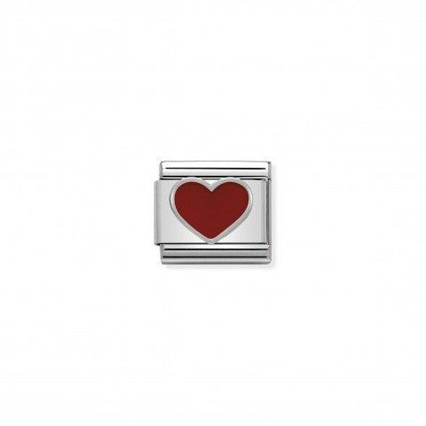 Link_Composable_Classic_in_Argento_Cuore_rosso_Link_in_Smalto_colorato_e_Argento_925_Cuori_e_Amore