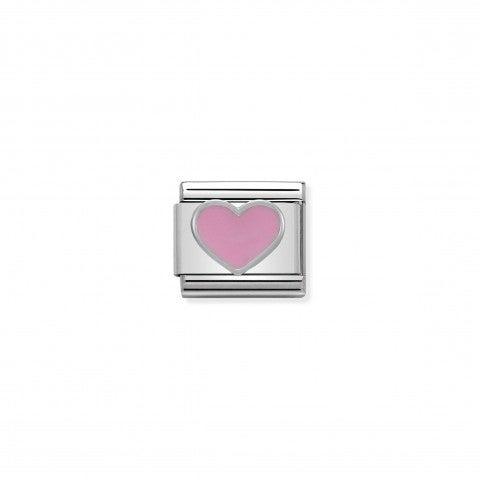 Link_Composable_Classic_in_Argento_Cuore_rosa_Link_in_Smalto_e_Argento_925_Cuori_e_Amore