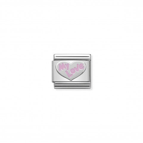 Composable_Classic_Link_pink_Heart_My_Love_in_Silver_Stainless_steel_Heart_My_Love_in_pink_enamel