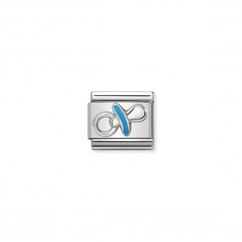 Composable_Classic_Light_Blue_Pacifier_Link_Link_in_sterling_silver_with_symbol_in_coloured_enamel