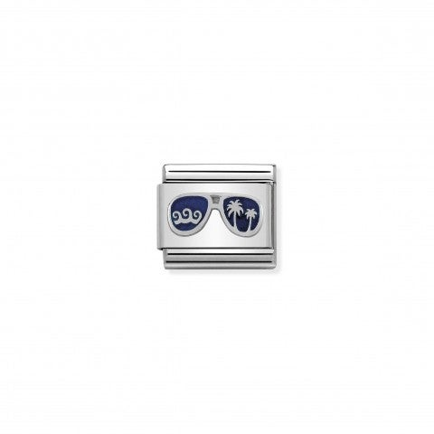 Link_Composable_Classic_Occhiali_Miami_Blu_Link_con_accessorio_in_Argento_925