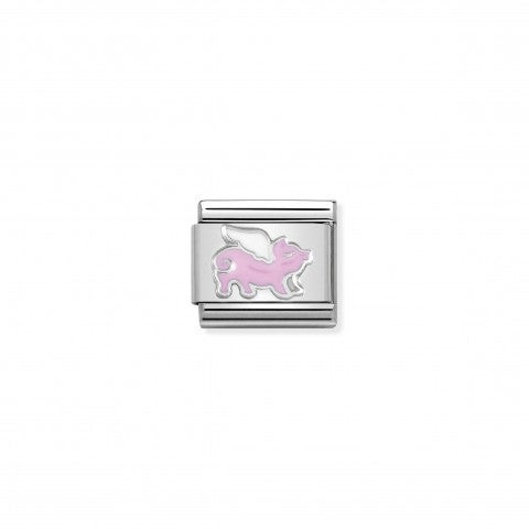Composable_Classic_Link_Flying_Pig_Sterling_silver_and_enamel_link_with_fantasy_symbol
