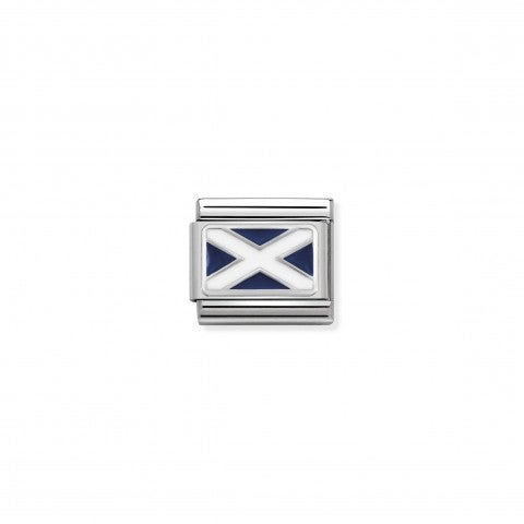 Composable_Classic_Link_Scotland_Flag_in_Silver_Flag_Link_with_Scotland_symbol_in_silver_and_enamel