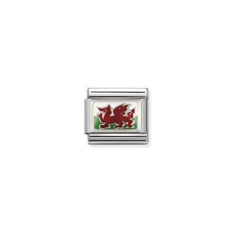 Composable_Classic_Link_Wales_Flag_in_Silver_Flag_Link_with_Wales_symbol_in_silver_and_enamel