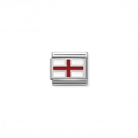 Link_in_Argento_e_Smalto_Bandiera_Inghilterra_Link_in_Acciaio,_Argento_e_Smalto_Simboli_Gran_Bretagna