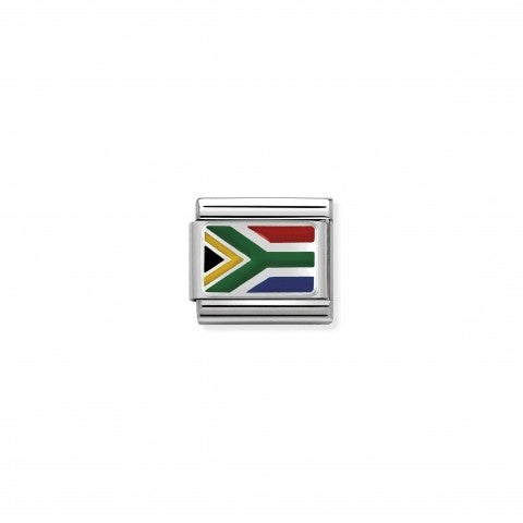 Composable_Classic_Link_silver_South_Africa_Link_for_bracelet_in_silver_with_flag