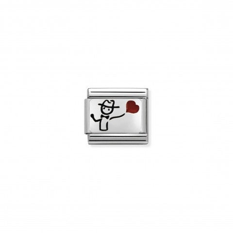 Link_Composable_Classic_Ragazzo_con_palloncino_Link_in_Smalto_con_ragazzo_con_palloncino_a_cuore