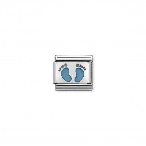 Link_Composable_Classic_Petits_Pieds_bleu_ciel_Link_en_Acier_et_Email_avec_petits_pieds