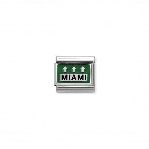 Link_Composable_Classic_Autostrada_Miami_Link_in_Argento_925_e_Smalto_verde