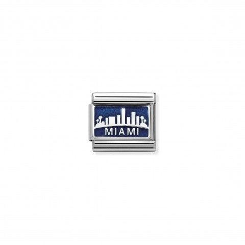 Link_Composable_Classic_Skyline_Miami_Link_in_Argento_925_e_Smalto_blu