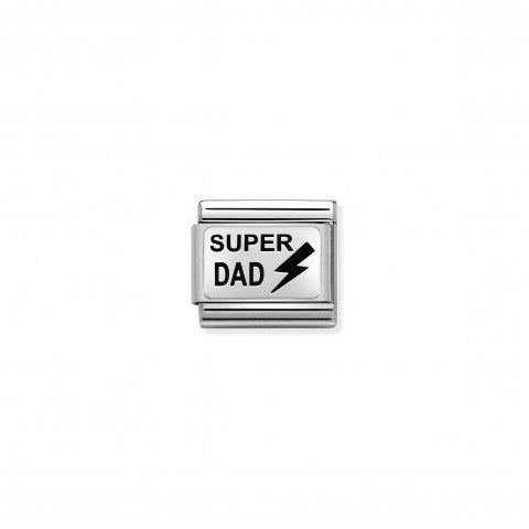 Composable_Classic_Super_Dad_Link_Link_in_silver_with_enamel._#oneformeoneforyou