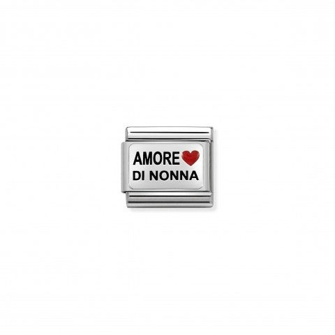 Composable_Classic_Amore_di_Nonna_and_Heart_Link_Link_in_silver_and_symbol._#oneformeoneforyou