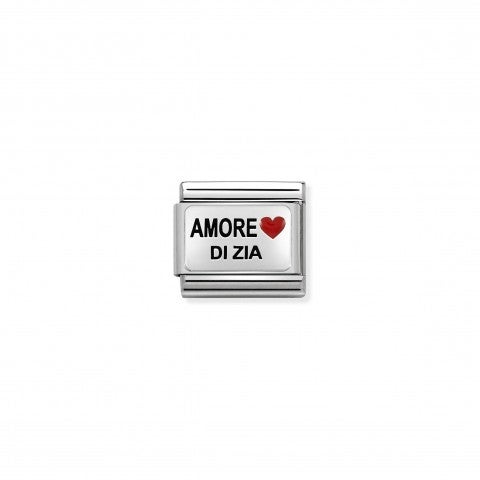 Composable_Classic_Amore_di_Zia_Link_Link_with_Italian_writing_in_silver._#oneformeoneforyou