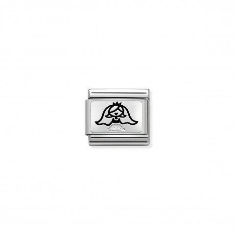 Composable_Classic_Bride_with_Veil_Link_Link_in_stainless_steel_and_silver_with_symbol.