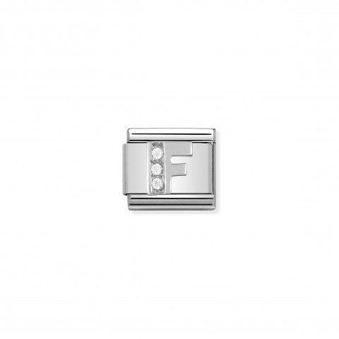 Link_Composable_Classic_en_Argent_Lettre_F_Link_en_Acier_et_Argent_Lettres_Alphabet