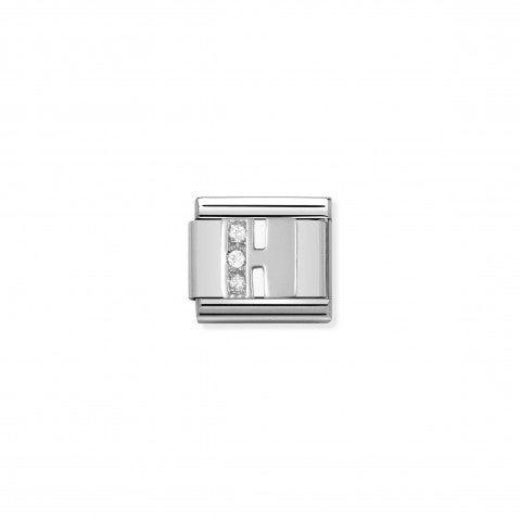 Link_Composable_Classic_en_Argent_Lettre_H_Link_en_Argent_et_Cubic_Zirconia_Lettres_Alphabet
