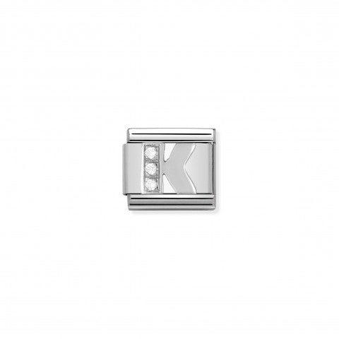 Link_Composable_Classic_en_Argent_Lettre_K_Link_en_Argent_925_Lettres_Alphabet_avec_Cubic_Zirconia