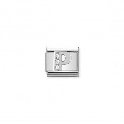Link_Composable_Classic_en_Argent_Lettre_P_Link_Alphabet_en_Argent_925_et_Cubic_Zirconia